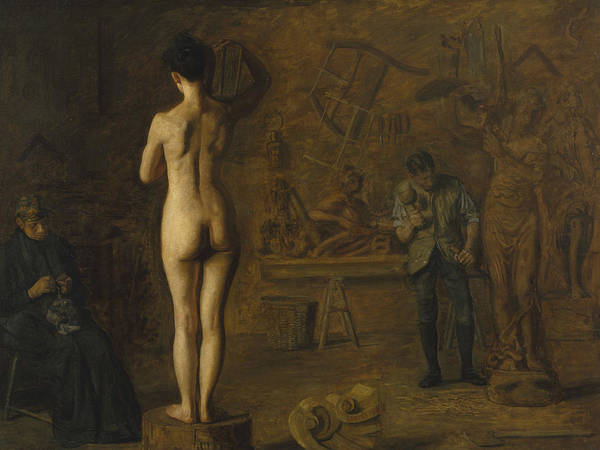 Painting - William Rush Carving His Allegorical Figure Of The Schuylkill River by Thomas Eakins