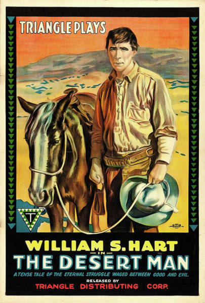 Nostalgia Drawing - William S Hart In The Desert Man 1917 by Mountain Dreams