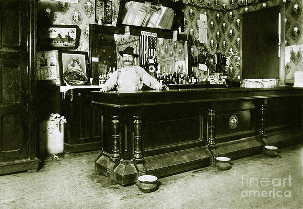 Wall Art - Photograph - William Schmidt Saloon1908 by Jon Neidert