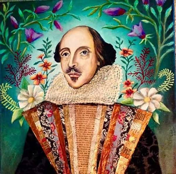 Painting - William Shakespeare by Amy Lindemann