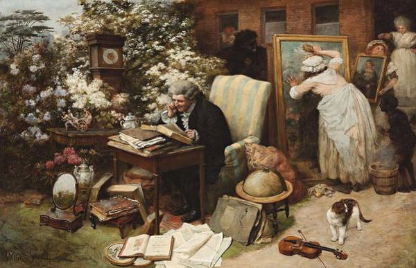 Painting - William Strutt, Spring Cleaning, 1892 by Artistic Panda