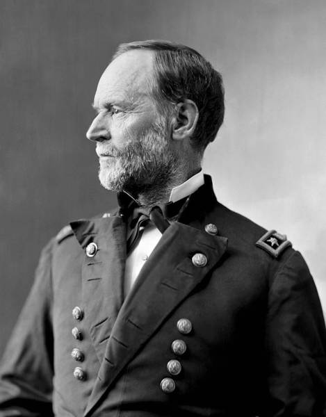 Sherman Photograph - William Tecumseh Sherman Portrait  by War Is Hell Store