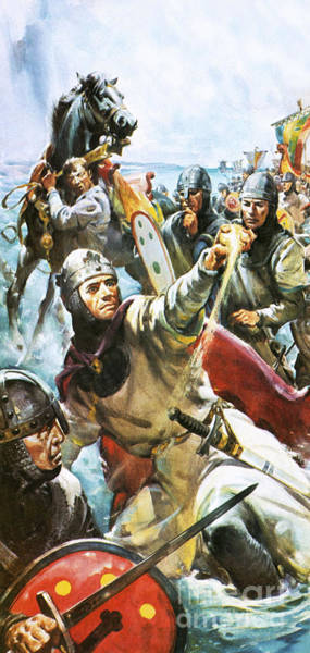 Wall Art - Painting - William The Conqueror Arriving In England In 1066 by James Edwin McConnell