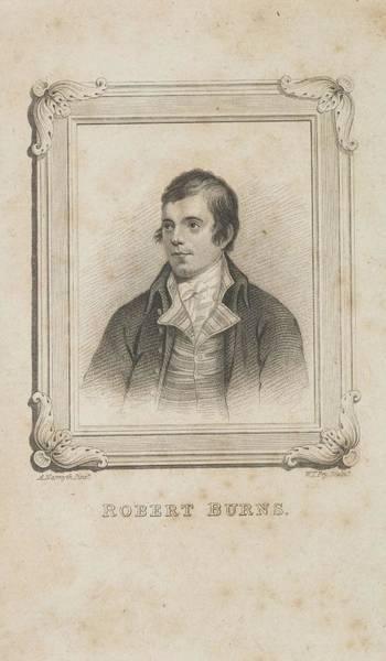 Painting - William Thomas Fry   Robert Burns, 1759 - 1796. Poet by Artistic Panda