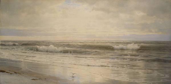 Painting - William Trost Richards 1833 - 1905 Atlantic Coast by Artistic Panda