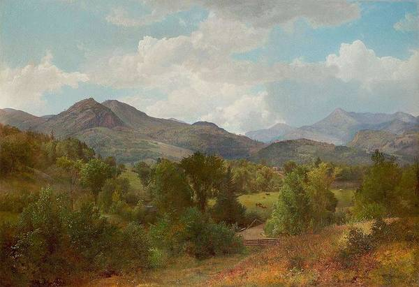 Painting - William Trost Richards 1833  1905 Bouquet Valley In The Adirondacks, 1863 by Artistic Panda