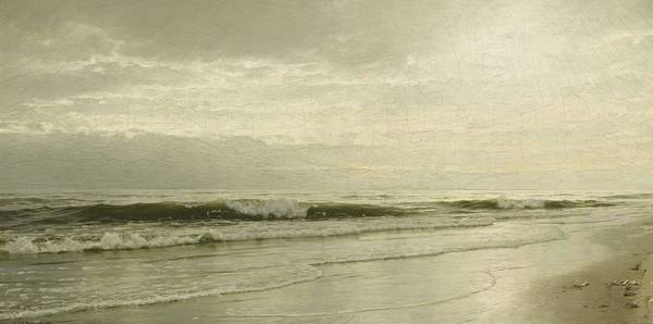 Painting - William Trost Richards 1833 - 1905 Ebbing Tide by Artistic Panda