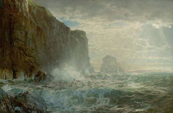Painting - William Trost Richards 1833  1905 Grand Manan Island, 1899 by Artistic Panda