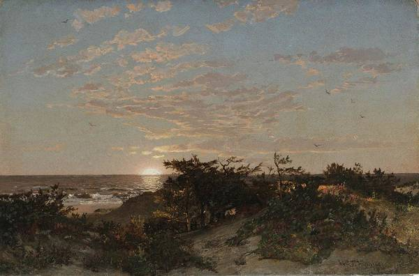Painting - William Trost Richards 1833-1905 Landscape, 1862 by Artistic Panda