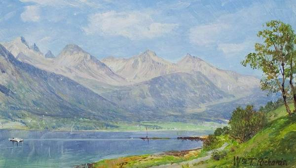 Painting - William Trost Richards 1833  1905 Norway by Artistic Panda