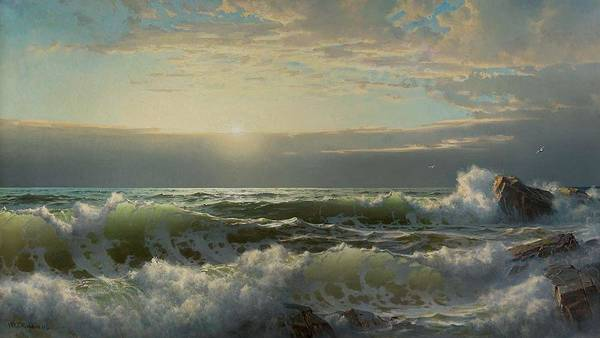 Painting - William Trost Richards 1833  1905 Off Conanicut, Newport, 1904 by Artistic Panda