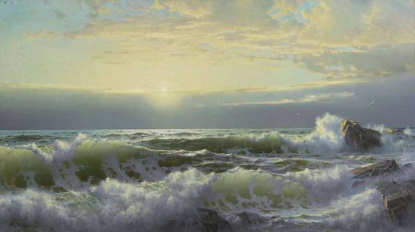 Painting - William Trost Richards 1833 - 1905 Off Conanicut, Newport by Artistic Panda