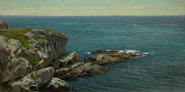 Painting - William Trost Richards 1833  1905 Rocky Coast, Springtime by Artistic Panda