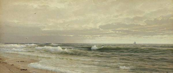 Painting - William Trost Richards 1833  1905  Seascape, 1883 by Artistic Panda