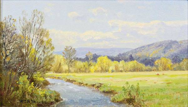 Painting - William Trost Richards 1833 - 1905 The Valley Stream by Artistic Panda