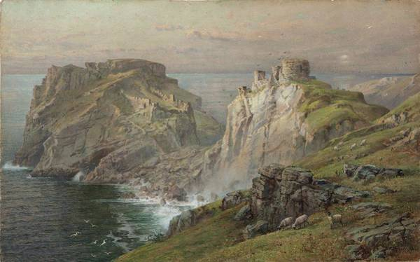 Painting - William Trost Richards, Tintagel, 1881, by Artistic Panda