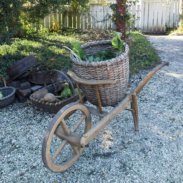 Royal Colony Photograph - Williamsburg Basket Cart by Teresa Mucha