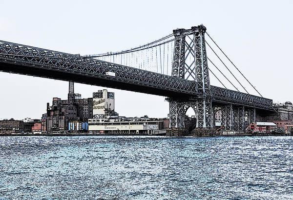 Photograph - Williamsburg Bridge 1.2 - New York by Frank Mari