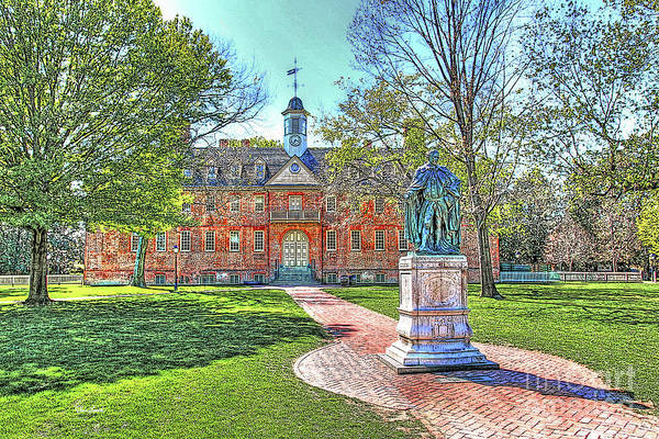 William And Mary Photograph - Williamsburg Va Virginia - William And Mary College - Wren Building - In Color by Dave Lynch