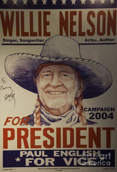 Ir Photograph - Willie For President by Bob Hislop