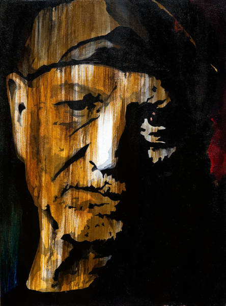 Wall Art - Painting - Willie Nelson by Brad Jensen