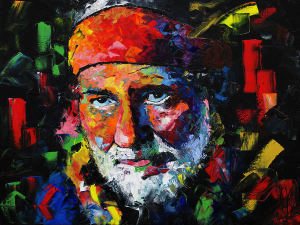Wall Art - Painting - Willie Nelson by Richard Day