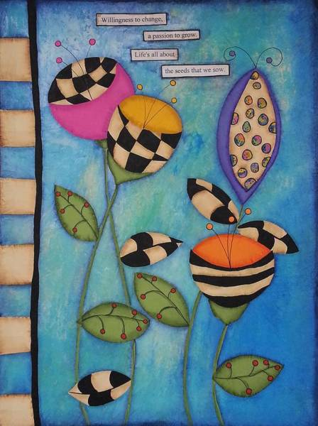 Pod Mixed Media - Willingness To Change by Clover Moon Designs Peggy Sowers-Heckman