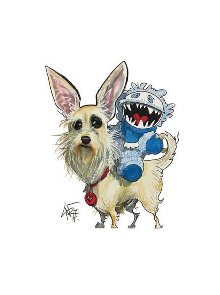 Pet Portrait Drawing - Willis 3259 by John LaFree