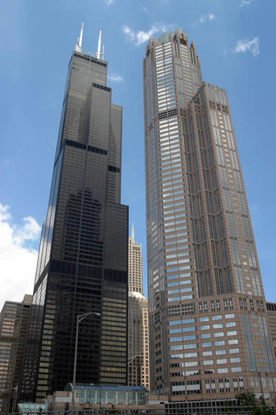 Photograph - Willis Tower Aka Sears Tower And 311 South Wacker Drive by Adam Romanowicz