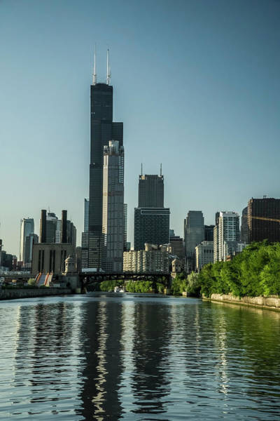 Photograph - Willis Tower And Its Watery Reflection by Sven Brogren