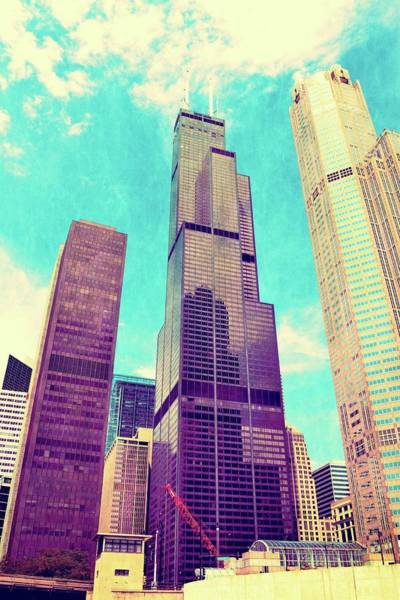 Photograph - Willis Tower - Chicago by Michelle Calkins