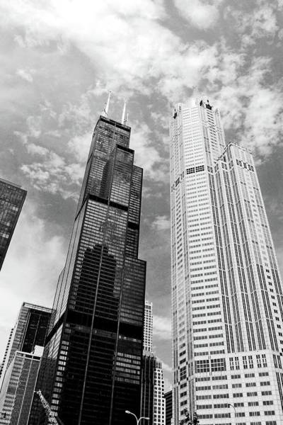 Photograph - Willis Tower With Clouds by Michelle Calkins