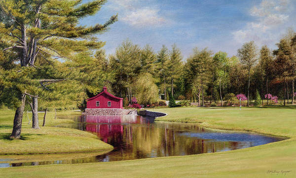 Country Club Painting - Willow Bend Country Club, Mashpee Cape Cod by Julia O'Malley-Keyes