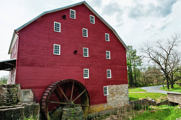 Photograph - Willow Grove Mill Spring Day by Lara Ellis