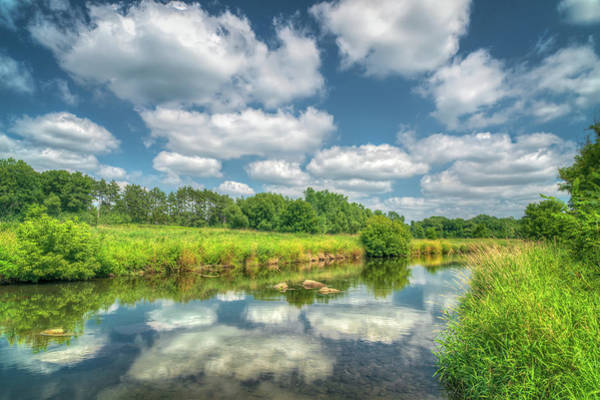 Wall Art - Photograph - Willow River And Reflecting Clouds In Western Wisconsin by Ken Wolter