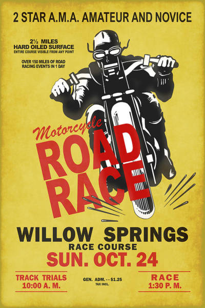 Wall Art - Photograph - Willow Springs Motorcycle Road Race by Mark Rogan