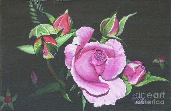 Painting - Will's Rose by Alicia Fowler