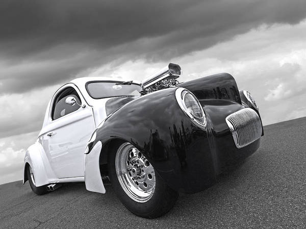 Photograph - Willys Coupe 1941 by Gill Billington