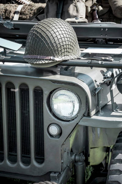 Off-road Vehicles Photograph - Willy's Jeep And Helmet by Richard Nixon