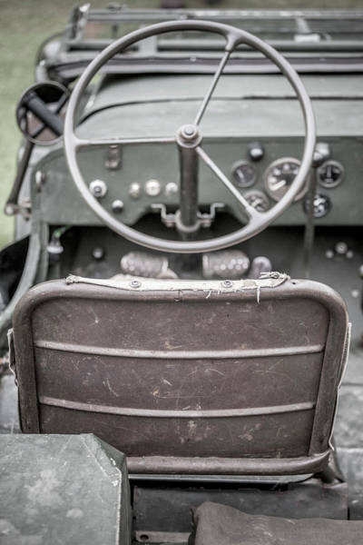 Off-road Vehicles Photograph - Willy's Jeep Drivers Seat  by Richard Nixon