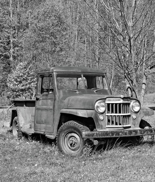 Steve Harrington Wall Art - Photograph - Willys Jeep Pickup Truck Monochrome by Steve Harrington