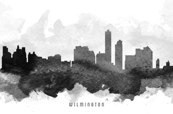 Wilmington Delaware Wall Art - Painting - Wilmington Cityscape 11 by Aged Pixel