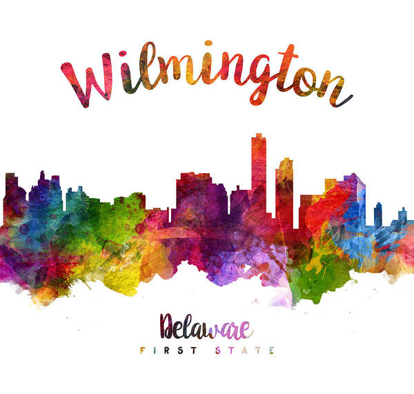 Wilmington Delaware Wall Art - Painting - Wilmington Delaware 23 by Aged Pixel