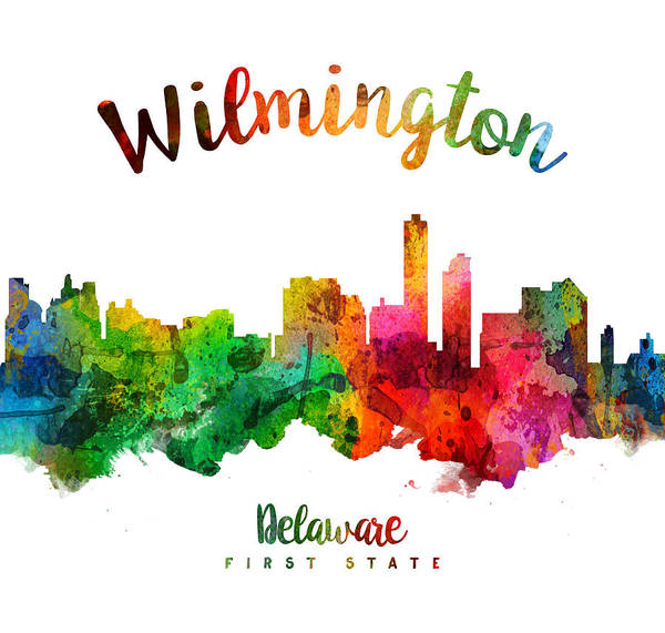 Wilmington Delaware Wall Art - Painting - Wilmington Delaware 24 by Aged Pixel