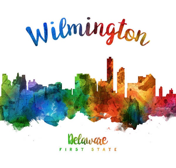 Wilmington Delaware Wall Art - Painting - Wilmington Delaware 25 by Aged Pixel