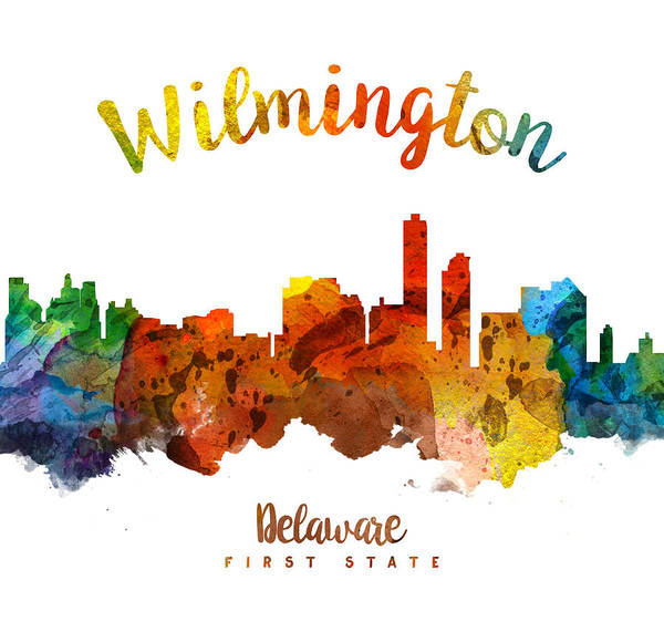 Wilmington Delaware Wall Art - Painting - Wilmington Delaware 26 by Aged Pixel
