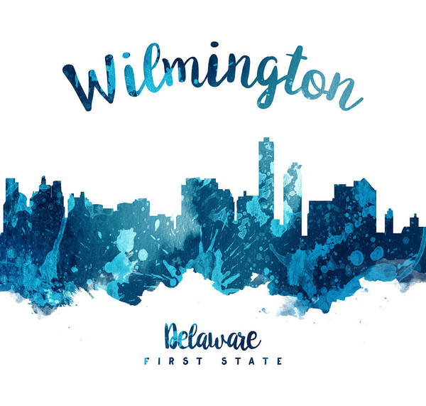 Wilmington Delaware Wall Art - Painting - Wilmington Delaware 27 by Aged Pixel