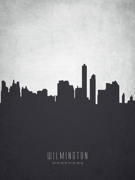 Wilmington Delaware Wall Art - Painting - Wilmington Delaware Cityscape 19 by Aged Pixel