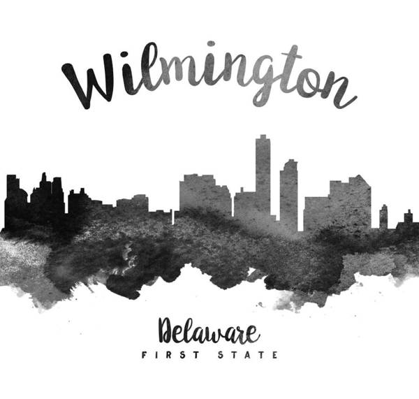 Wilmington Delaware Wall Art - Painting - Wilmington Delaware Skyline 18 by Aged Pixel