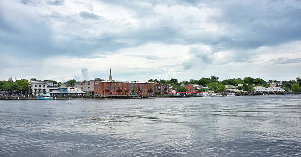 Wall Art - Photograph - Wilmington From The Cape Fear River - Nc by Brendan Reals
